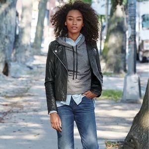 NWT MADEWELL Washed Leather Moto Jacket